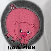 I LOVE PIGS ( PIGS ON BOTH SIDES) T-shirt