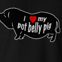 POTBELLY PIG LOVE T-shirt